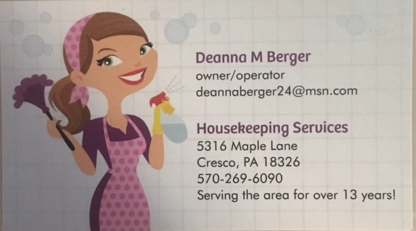 Housekeeping Services By Deanna