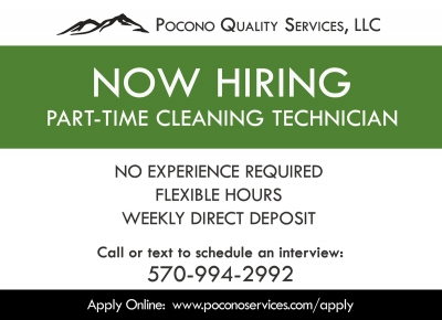 Now Hiring: Cleaning Technician