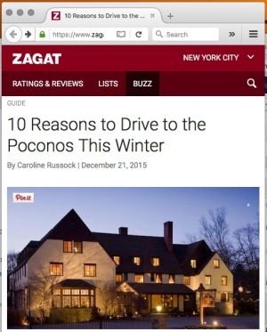 10 Reasons to Drive to the Poconos This Winter