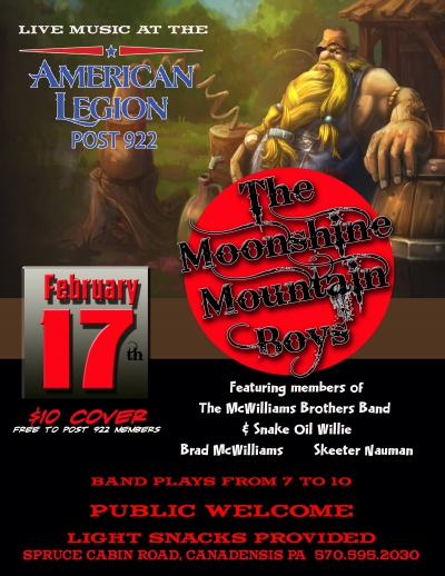 The Moonshine Mountain Boys (Live Music) @ American Legion (February 17, 2018)