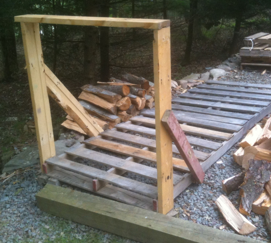 How to build your own cheap or free firewood racks diy