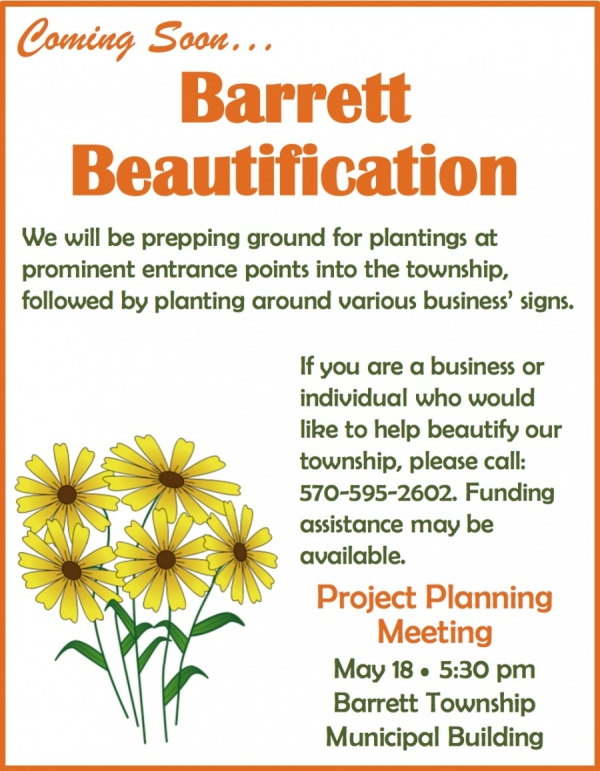 Barrett Township Marketing Meeting - Beautification of Barrett (May 2017)