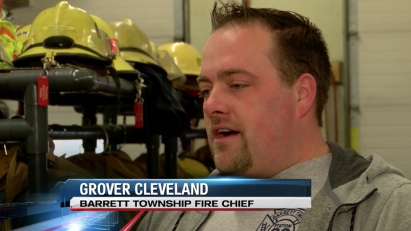 """With this grant, we don't have to worry about that and it's going to be a big weight lifted off our shoulders,"" says Fire Chief Grover Cleveland, Barrett Township."