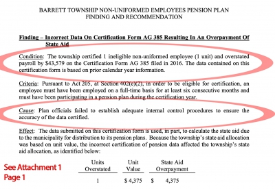 Barrett Township Employee Pension Plan – How Liable are Taxpayers?