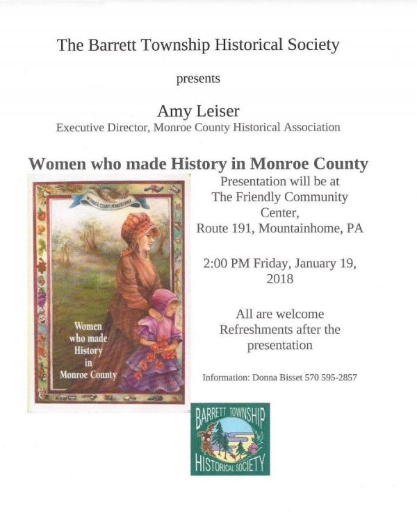 Event: Women Who Made History in Monroe County (1/19/2018)