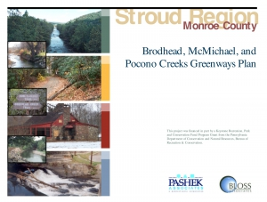 Brodhead, McMichael, and Pocono Creeks Greenways Plan (Stroud Region)