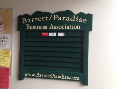 New Business Card Rack in Barrett Township Building