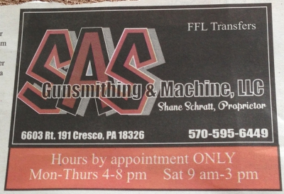SAS Gunsmithing & Machine, LLC