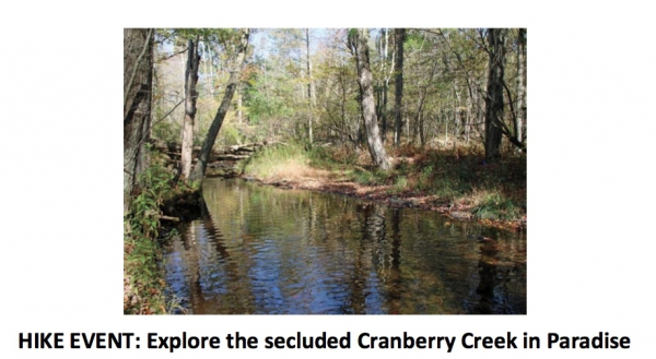 HIKE EVENT: Explore the secluded Cranberry Creek in Paradise