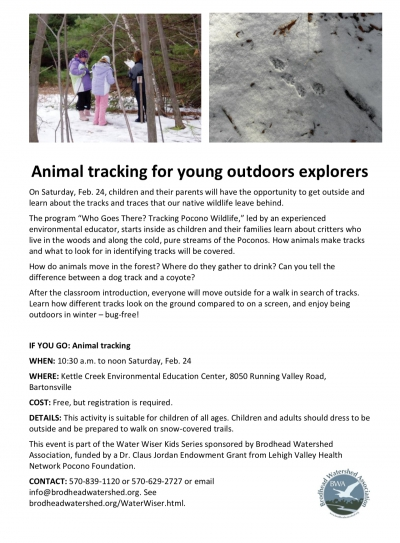 Animal tracking for young outdoors explorers