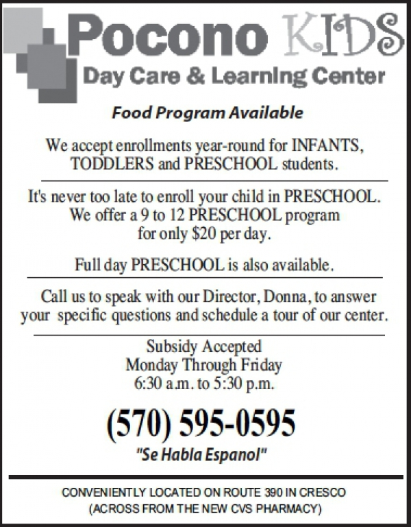 Pocono Kids Day Care-Learning