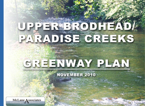 Upper Brodhead / Paradise Creeks: Greenway Plan