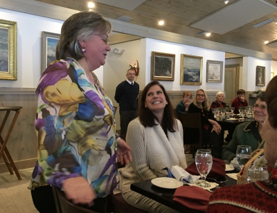Becky Leister, Director of CAME, and Lucy Stone Cusano, organizer of the Buck Hill Falls Holiday Celebration Luncheon