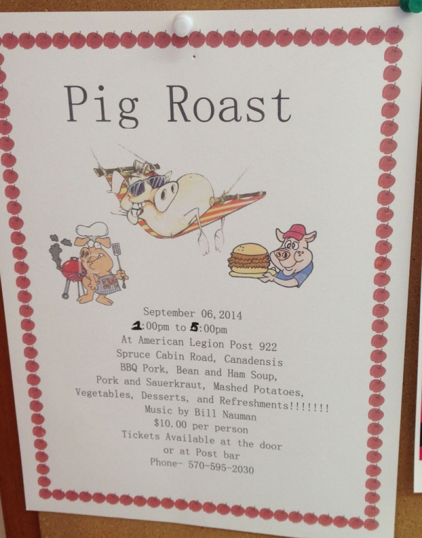 2014 Pig Roast at American Legion Post 922